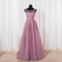 Robe De Soiree Fashion Banquet Elegant Evening Dress The Bride Wine Red Lace Flower Beading Long Party Prom Dresses Custom