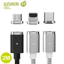 Cabo magnético usb tipo c para iphone, cabo para carregamento rápido de iphone qc 2.0 cabo usb c, fio do cabo