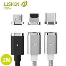 Магнитный кабель Wsken USB-Lightning/Type-C/Micro-USB c функцией быстрой зарядки, 1м/2м, в ассортименте.