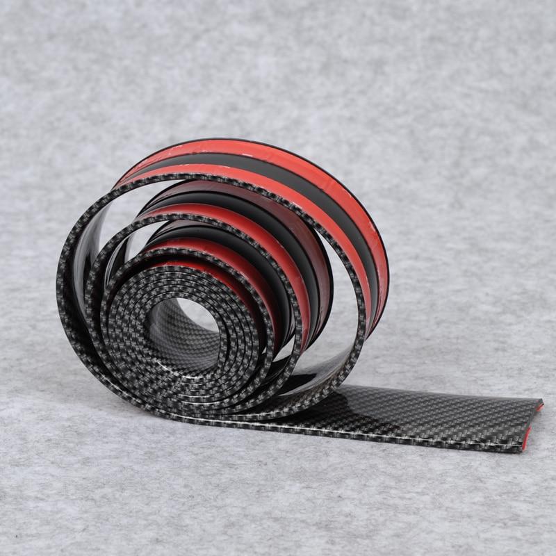 Universal Carbon Fiber Car Scuff Plate Door Sill Cover Panel Step Protector Guard renault captur 2018