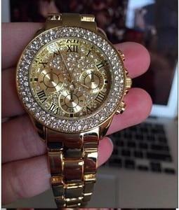 Image 2 - 2019 nova mulher strass relógios senhora vestido relógio feminino diamante marca de luxo pulseira relógio de pulso senhoras cristal quartzo relógios