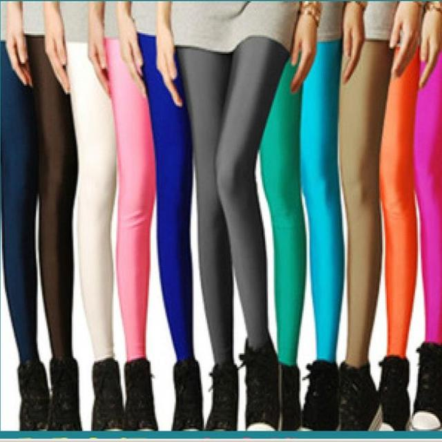 b3a50fd6975d3 Sexy Solid Candy Neon Plus Size Women s Leggings High Stretched Jeggings  Fitness Clothing Ballet Dancing Pant