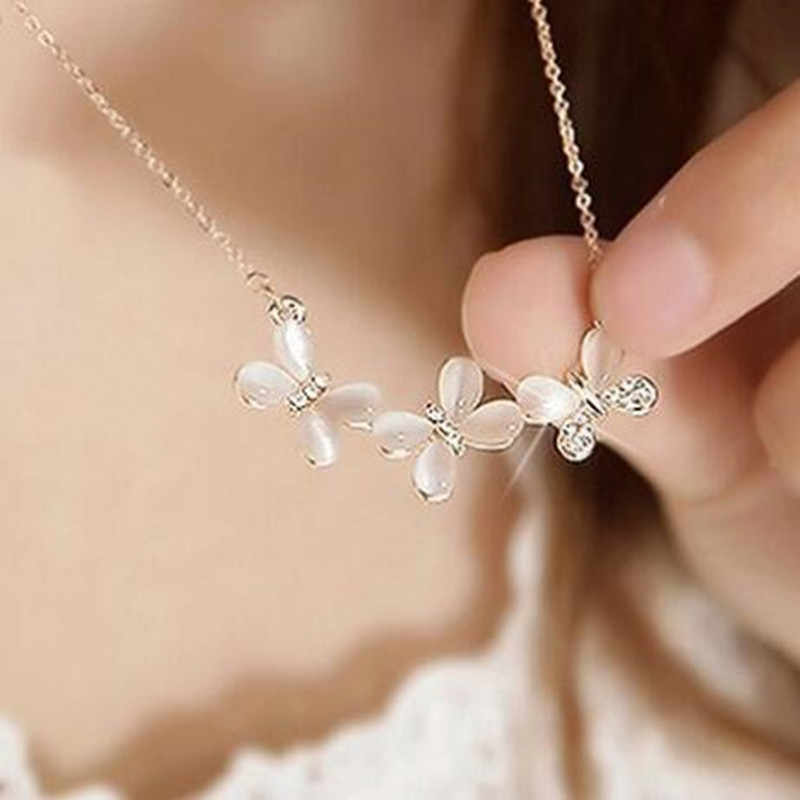 2018 New Arrival Multiple Zircon Butterfly Necklaces & Pendants for Women Jewelry Wedding Chokers Necklace wholesale