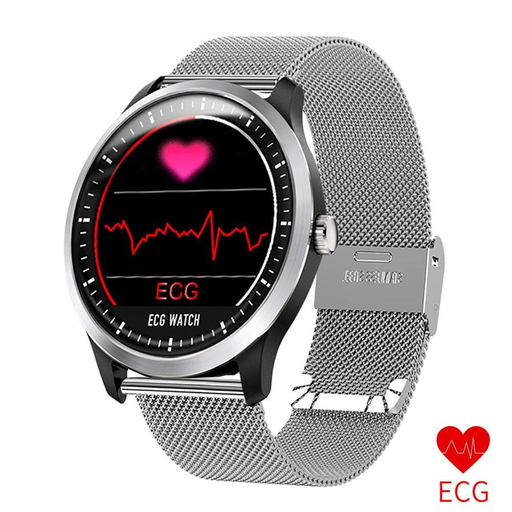 Top Brand Luxury Smart Watch Men ECG PPG Heart Rate Blood Pressure Monitor Mesh Belt SmartWatch