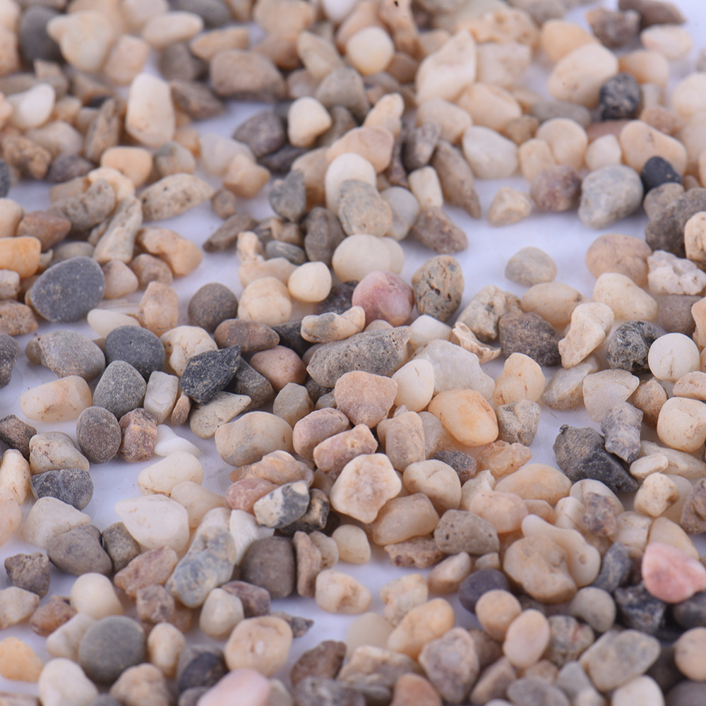 100% Natural Small River Sand Stones Rocks Size 3-4mm Fairy Garden DIY Omaments For Micro Landscape Decorations Accessories