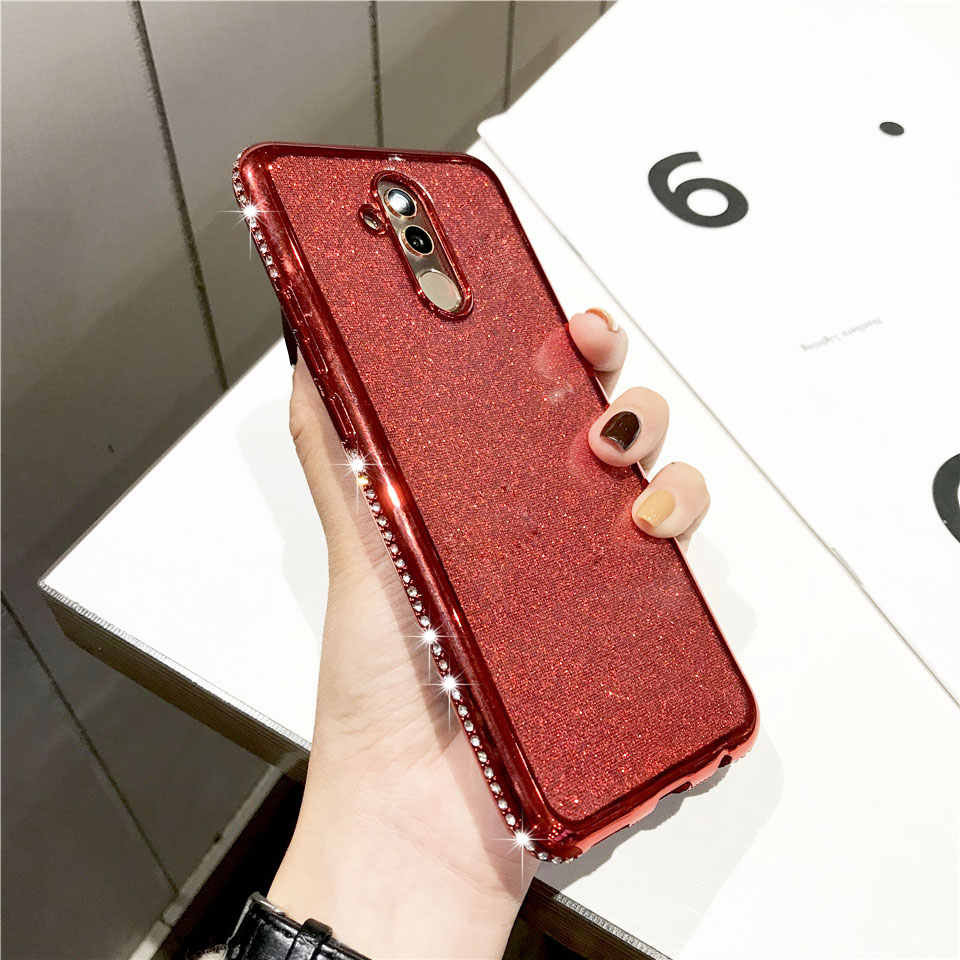 Diamond TPU Glitter Case for Huawei Mate 20 Pro 10 Lite P20 P30 Nova 3 3i Honor 8X 7X Bumper iPhone X XR XS MAX 6 7 8 Plus Cover