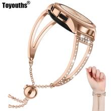 Bracelet pour montre, 42mm, bijoux Bling, pour Samsung Galaxy Watch, à libération rapide, Active 42mm/40m, pour femmes