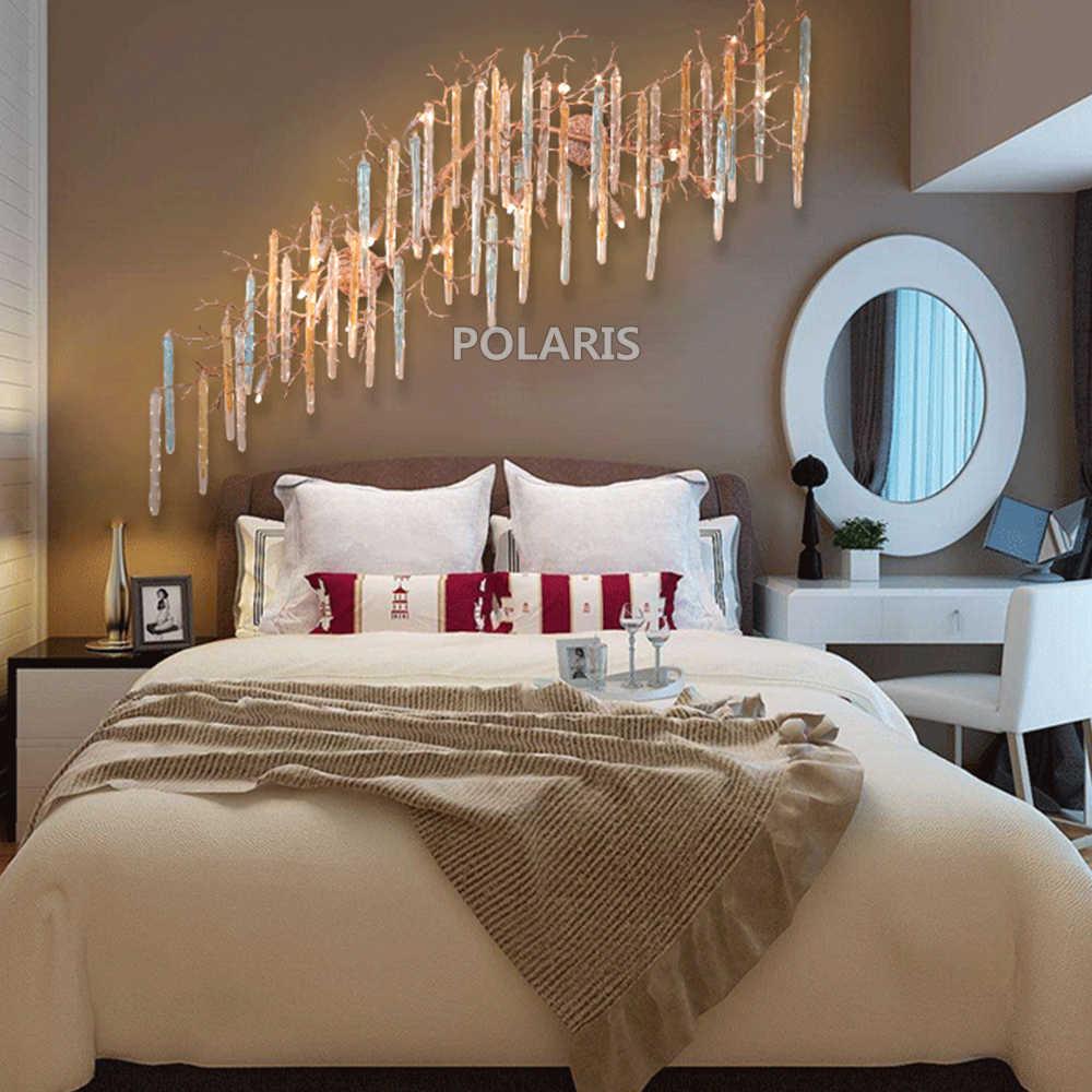 Светодиодный медный настенный светильник медная люстра настенное освещение фойе Освещение для дома отеля гостиной столовой