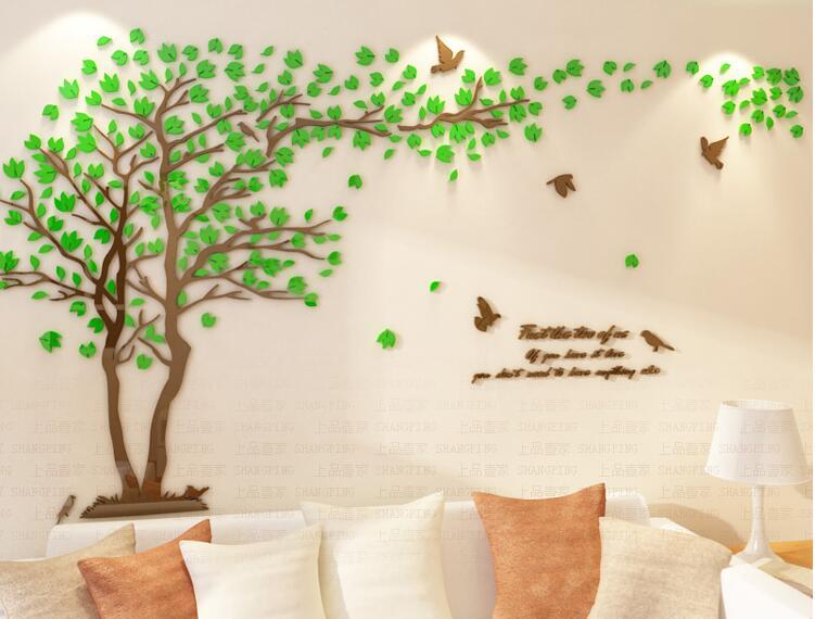 Pecinta Pohon Kristal Tiga Dimensi Stiker Dinding Ruang Tamu Tv Sofa Hiasan Diy Dekorasi Rumah Di Wall Stickers Dari Taman