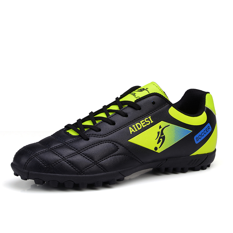 2016 Football Shoes Soccer Boots For Men Children Soccer Cleats Turf Shoes Leather Soccer Trainer Boys Soccer Sneaker Turf Boot health top soccer shoes kids football boots cleats futsal shoes adult child crushed breathable sport football shoes plus 36 45