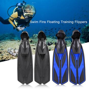 Sporty wodne zestaw do snorkelingu płetwy do pływania dla dorosłych elastyczny komfort płetwy do pływania zatapialne płetwy płetwy tanie i dobre opinie TOMSHOO Swimming Fins RUBBER