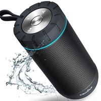 COMISO Bluetooth Speaker Wireless Portable Loudspeaker with 12W 360 Stereo Surround Sound System IPX5 Waterproof Speaker Outdoor
