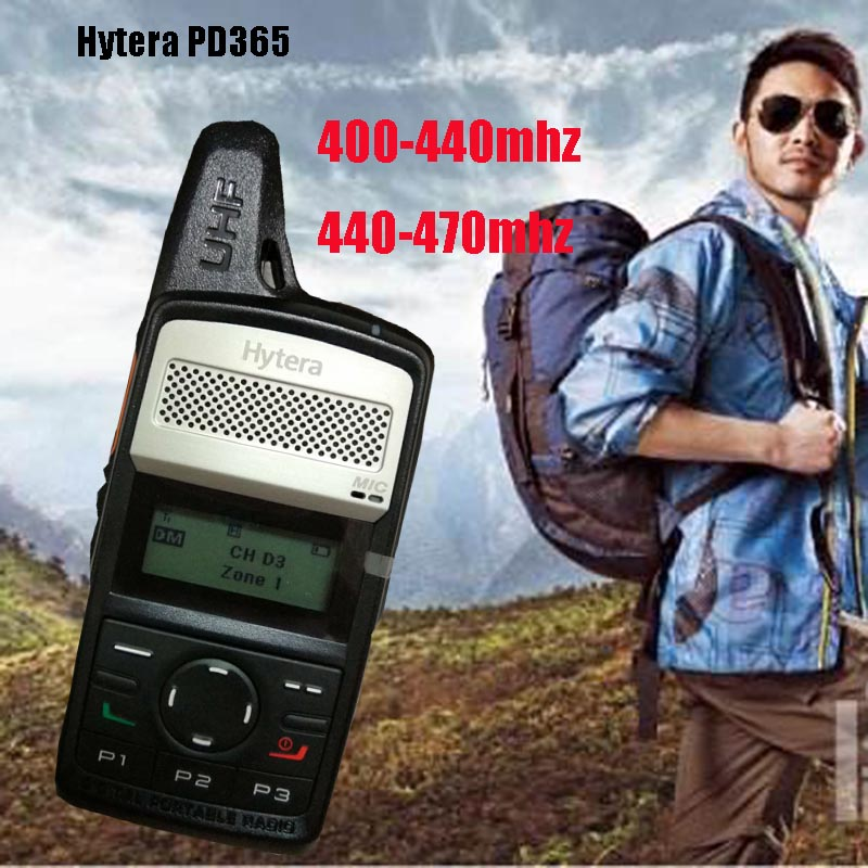 100% original Hytera PD365 walkie talkie Frequency 400-440mhz 440-470mhz 256 store channel portable radios equipment for hunting100% original Hytera PD365 walkie talkie Frequency 400-440mhz 440-470mhz 256 store channel portable radios equipment for hunting