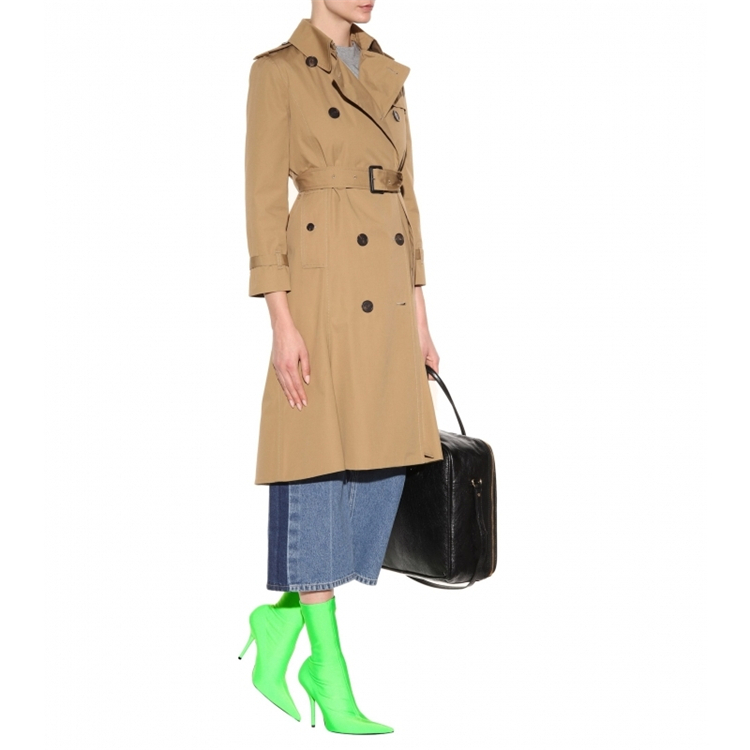 Tipe Vert Chaussette Cheville Tissu Talons Bottes Botas Mujer Zapatos Martin De As Stretch as Rose Femme Pic Pic A7HOqw