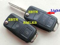 RMLKS Nowy 2 3 4 Przycisk Zdalnego Składane Shell Nadające Się Do VW Beetle Passat B5 Dla Polo Przerzucanie Fob Uncut RemoteKey HU66 ostrze