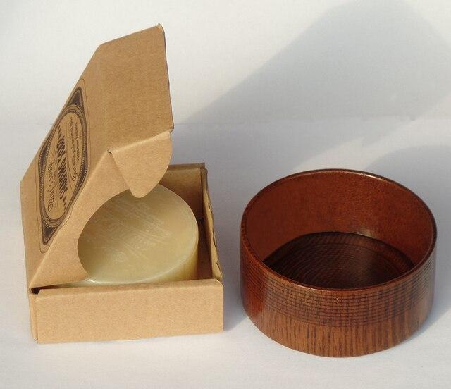 100г крем для бритья бород в деревянной чаше для мужчин