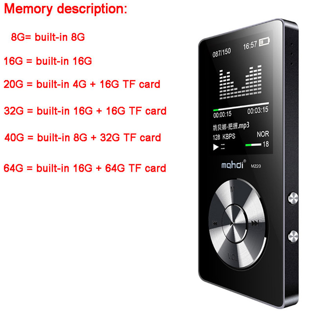 portable metal mp3 player Built-in Speakers e-book fm radio clock audio recorder flac lossless hifi sports music video player 3