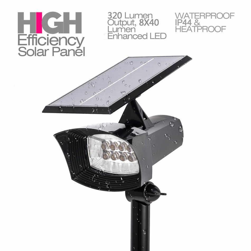 ZjRight 400lumen Led per Esterni Luce Solare Patio Ponti Percorsi Scale di Sicurezza Solare HA CONDOTTO LA Lampada Esterna Giardino prato Faretti