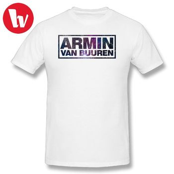 Armin Van Buuren T camisa impresa camiseta 100 algodón camisetas de los hombres  Camiseta de manga corta 3279eeef03b