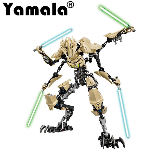 Yamala KSZ StarWars 7 General Grievous with Lightsaber Storm Trooper w gun Figure toys building