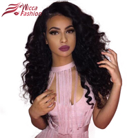 Wicca Fashion Full Lace Wigs Loose Wave Human Hair With Baby Hair For Black Women 150