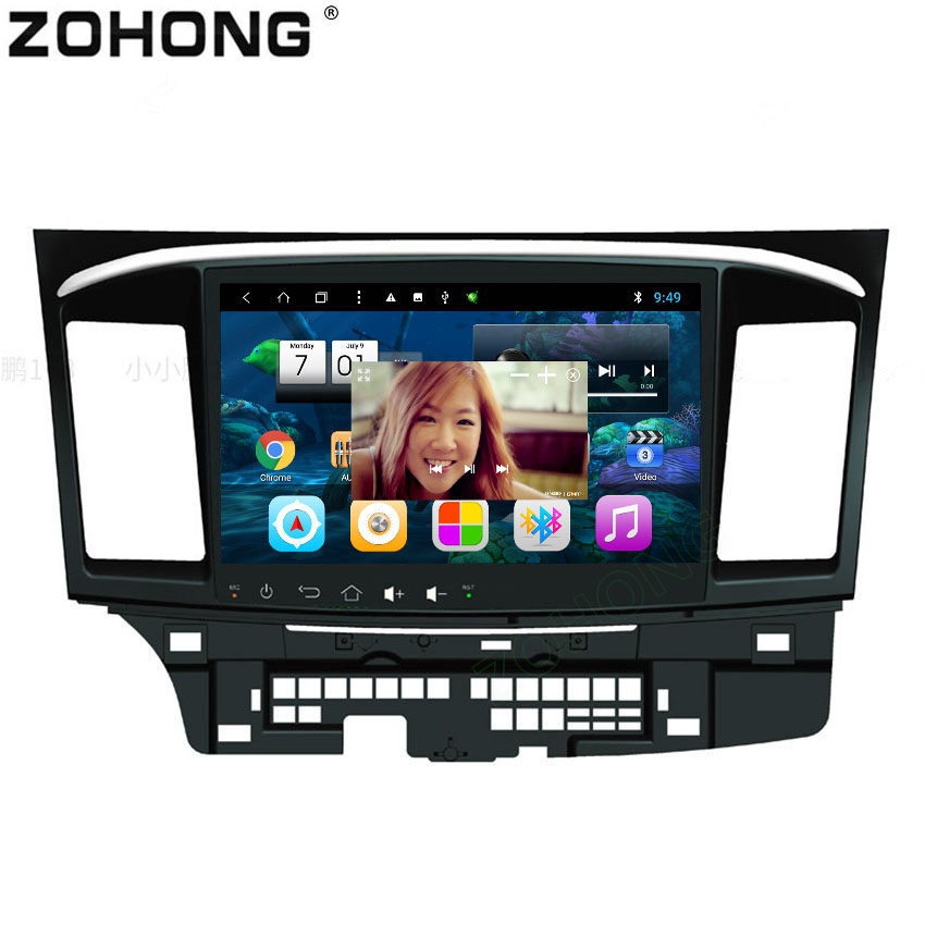 10 2inch Octa 8 Core 2G 32G Android8 1 Car dvd player for Mitsubishi Lancer autoradio