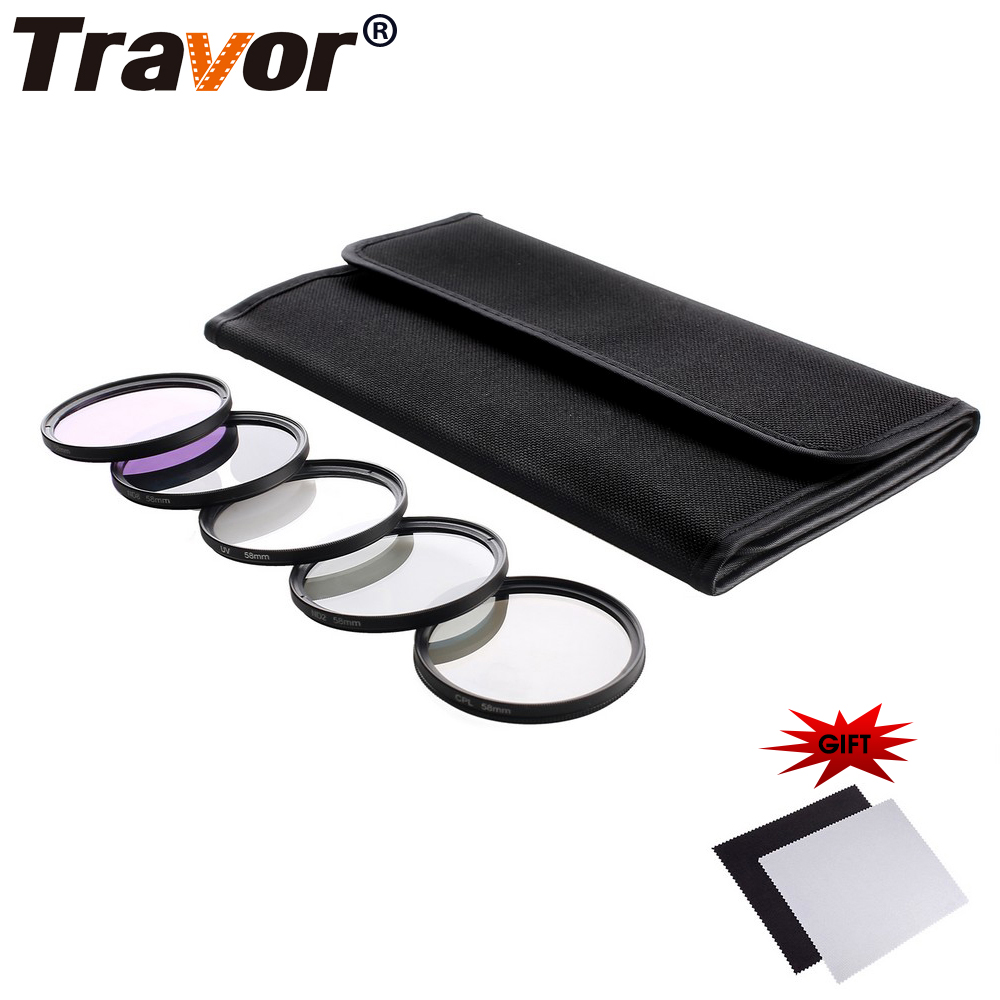 Travor Camera Lens Filter UV CPL FLD Neutral Density Filter ND2 ND4 ND8 49 52 55 58 62 67 72 77MM Kit For Canon Nikon Sony