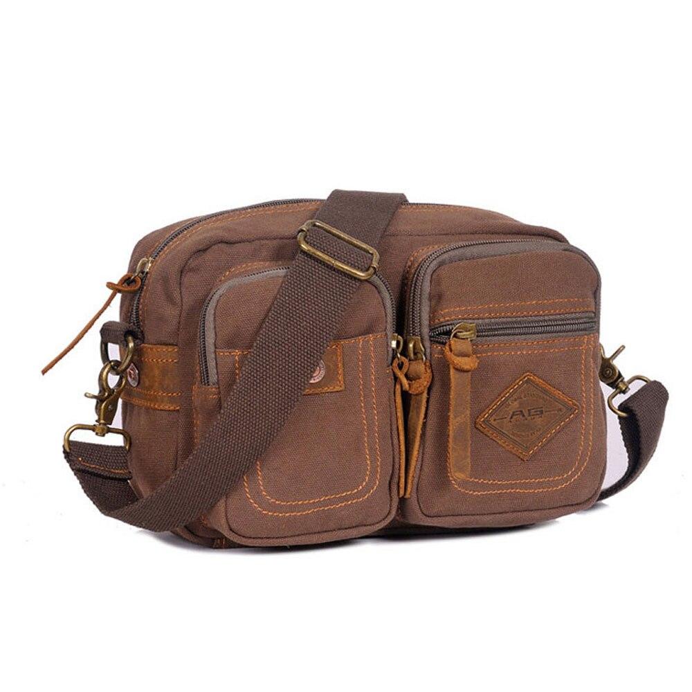 ФОТО Casual Outside Canvas Belt Waist Men Bags Preppy Style Shoulder Bags Cool Men Boy Crossbody Bags Outside Travel Bags