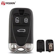 Yiqixin 3 botão caso chave do carro inteligente substituição de controle remoto chave escudo para alfa romeo 159 brera 156 aranha com lâmina