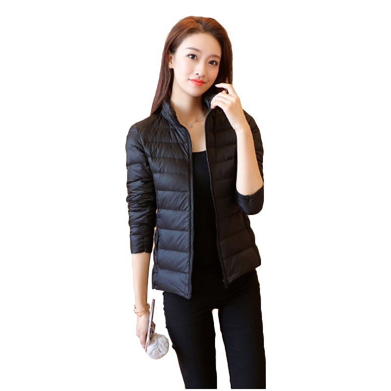Spring/Autumn/winter jacket thin Woman   Down   Jackets 90% White Duck   Down     coat   Female Warm jacket Winter short large size outwear