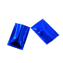 200 Pieces 8*12cm Dried Food Package Mylar Bags Kitchen Storage Bulk Food Vacuum Packaging Blue Aluminum Foil Pouch Package Bag wet food felix appetizing pieces for kittens with chicken pouch 24x85 g