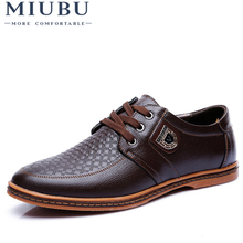 MIUBU New Mens Leather Casual Shoes Autumn Luxury Brand Men Flat Adult Moccasins Male Chaussure Home