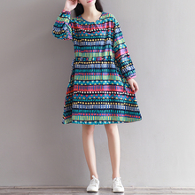 Autumn Spring Maternity Dresses Loose Clothes for Pregnant Women Linen Pregnant Dress Maternity Clothing for Pregnancy B279