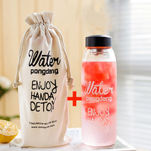 600ML /1000ML Portable Water Bottle and Bag Travel Transparent High Quality Glass Kettle Infuser Drink for Kids
