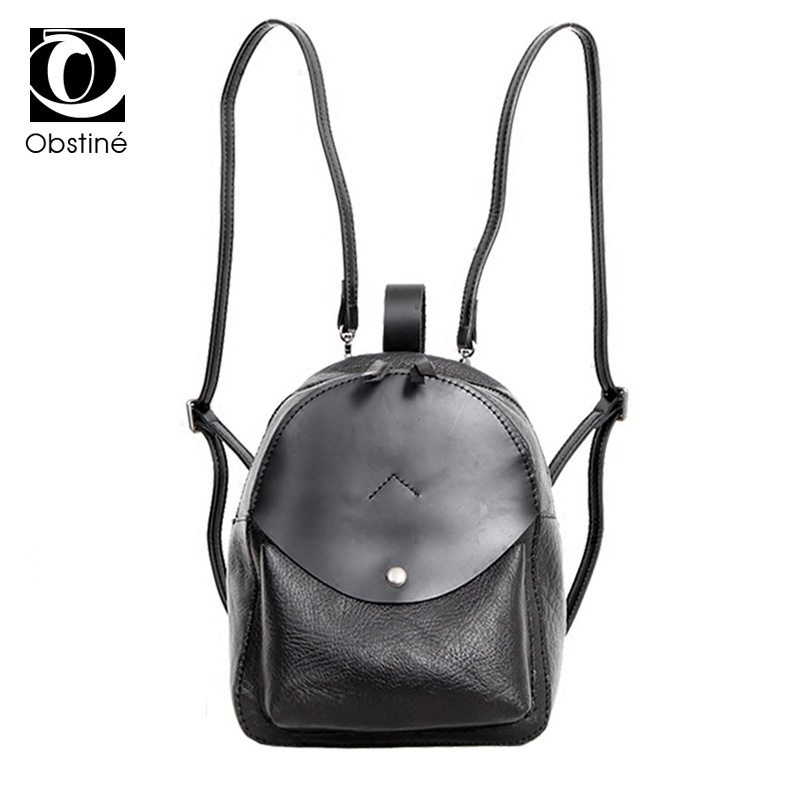 купить 100% Genuine Leather Backpacks for Womens Small Woman Vintage Shoulder Bags Solid Casual Women Real Cowhide Leather Backpack онлайн