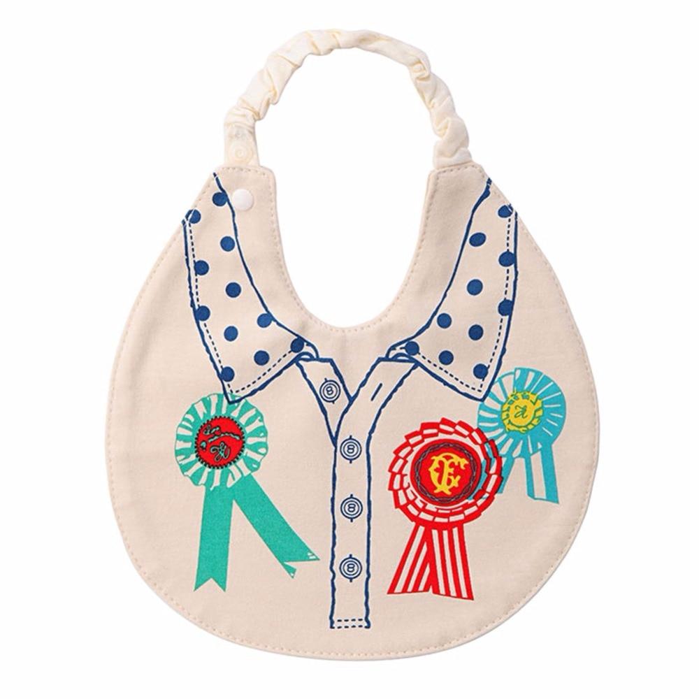 Cartoon Pattern Printed Cotton Baby Bib Infant Saliva Towels Baby Waterproof Bibs Newborn Wear Cartoon Accessories