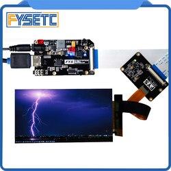5.5 cal 2k moduł LCD ekran LCD wyświetlacz i HDMI MIPI płyta sterownicza do Wanhao powielacz 7 3D drukarki VR szkło w Części i akcesoria do drukarek 3D od Komputer i biuro na