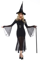Disfraz Mujer New Purim Carnival Black Gothic Witch Costume Women Adult Adulto Fantasia Long Dress Halloween Cosplays