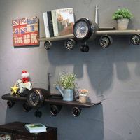 1 шт. American retro дома гостиная личность настенные часы самолетов полка мебели настенный крючок стены LU719146