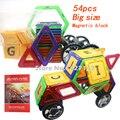 54 unids grande/mini tamaño diseñador Inteligente juego de construcción magnético bloques de construcción magnética jugar y juguetes de aprendizaje para los niños