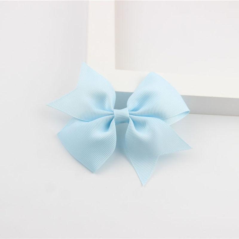 Новые модные маленькие заколки для волос для маленьких девочек, милые заколки для волос карамельного цвета с цветком, детские заколки, аксессуары для волос - Цвет: a10 Sky Blue