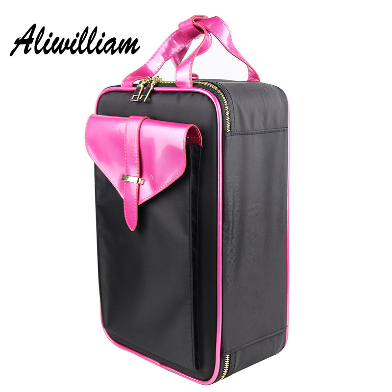 Large Capacity Cosmetic Bags Waterproof Women Make Up Bags Professional Organizer Makeup Bag High Quality Cosmetic Cases 4 Layer bubm cd holders receiving bags cover case cd trainborn organizer bag large capacity 80pcs dj package adapter big capacity