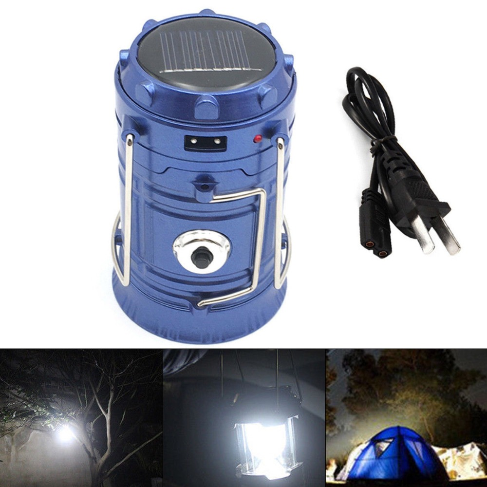 ZK50 Outdoor Flashlights Luminaire LED 6LEDs Solar Power Collapsible Portable LED Rechargeable Hand Lamp Camping Lantern Light