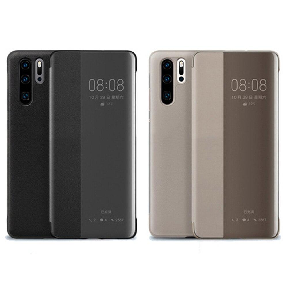 Pour Huawei P30 Pro D'origine Étui Officiel Smart View PU Étui En Cuir Pleine Protection Anti-goutte Téléphone etui téléphone Huawei P30