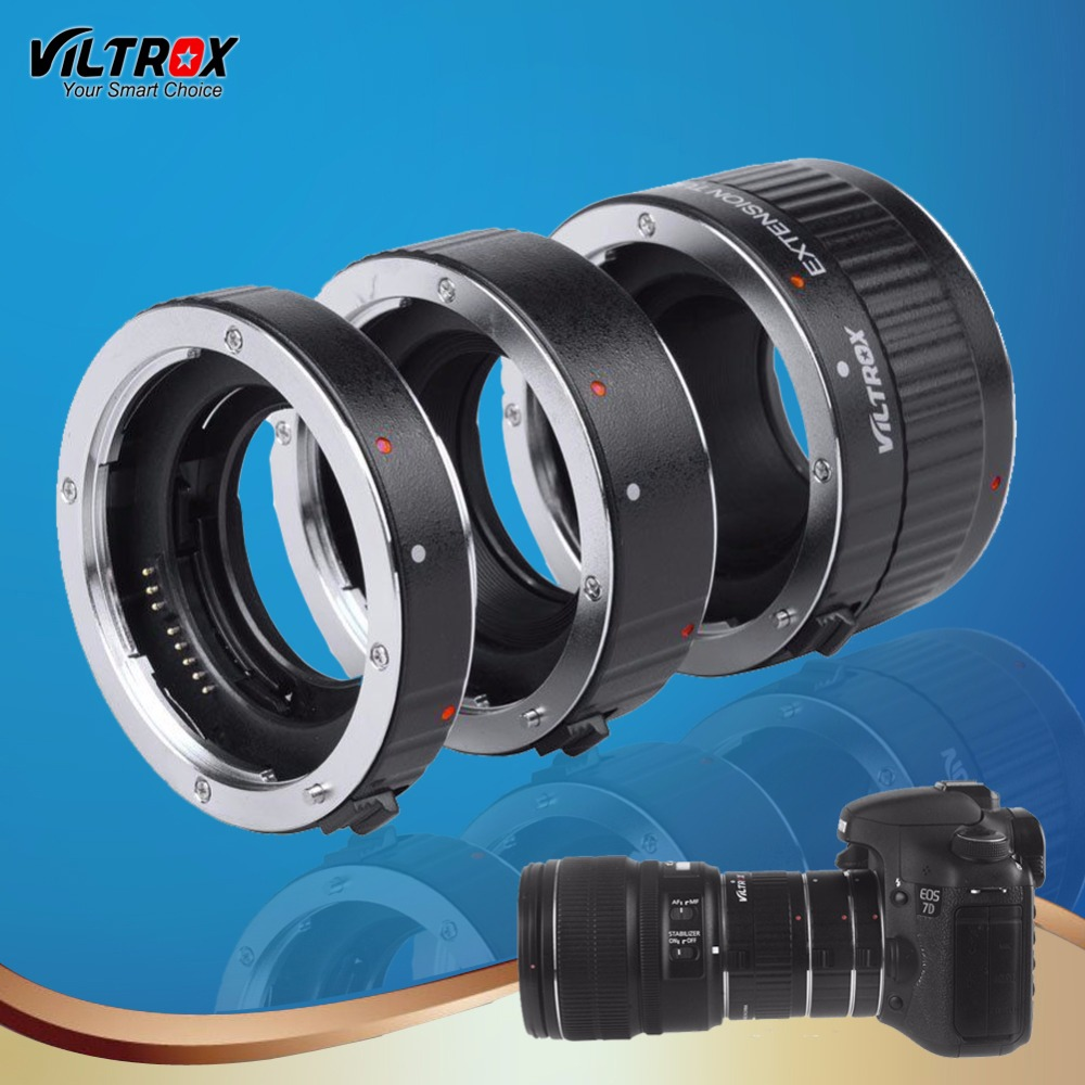 Lens Adapter Ring Viltrox DG - C 12MM 20MM 36MM AF Auto Focus Metal Mount Macro Extension Tube for Canon EOS Series DSLR Camera
