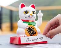 [ Fly Eagle ] Chinese Lucky Cat Wealth Waving Hand Cat Maneki Neko Cute Home FengShui Decor Welcome Cat Craft Art Shop Hotel