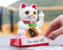 [ Fly Eagle ] Chinese Lucky Cat Wealth Waving Hand Maneki Neko Cute Home FengShui Decor Welcome Craft Art Shop Hotel