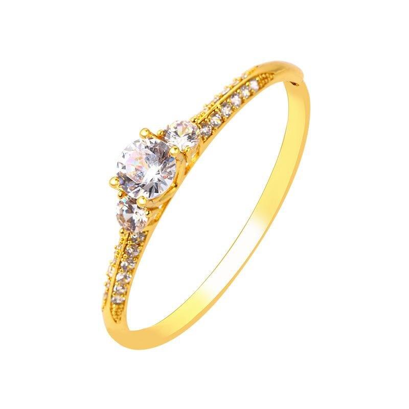 2018 nouvelle arrivée mode titane acier couleur or bague pour femme bijoux cadeau bague de mariage CP1