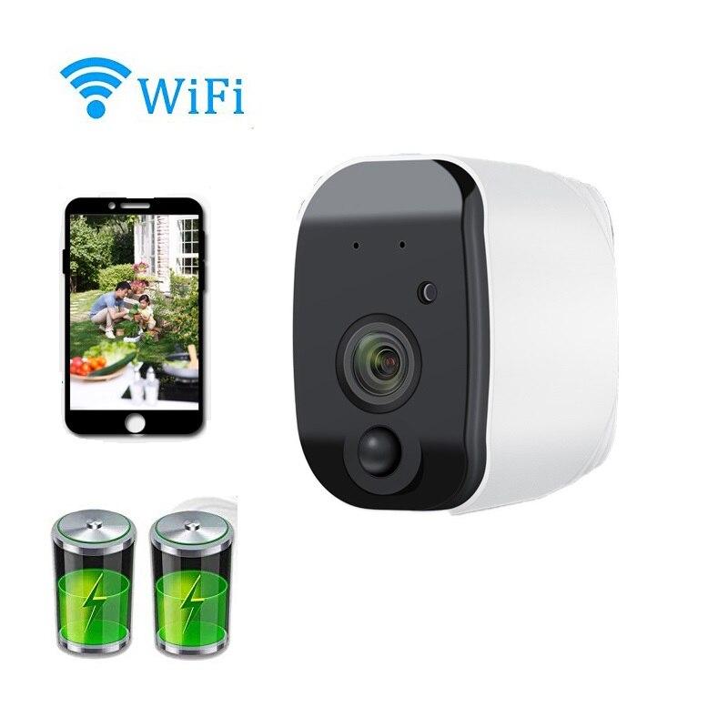Wdskivi 100% sans fil HD 1080 P batterie IP caméra extérieure sans fil étanche sécurité WiFi caméra CCTV Surveillance alarme intelligente