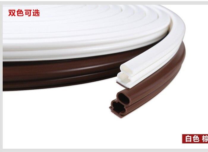 10 X 6-15mm 6m Silicone Rubber Sealing Strips Crash Soundproof Door Thong Strip Security Door/ Window Sealed Slot Type Buy Now